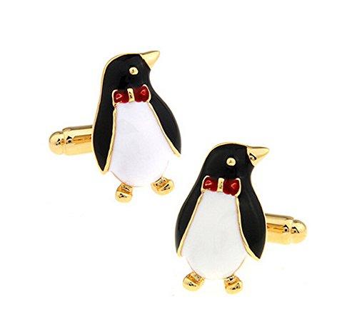 Hosaire 1 Paar Manschettenknöpfe Schwarz Pinguin Form Cufflinks Hemd Manschettenknopf Kleidung Schmuck