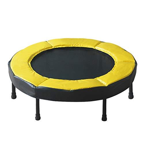 Jiamuxiangsi Kindertrampoline Trampoline Volwassenen Kinderen 2 cm Dikke Gele Beschermende Rand Indoor en Outdoor Fitness Equipment Aerobic Trampoline Indoor trampolines