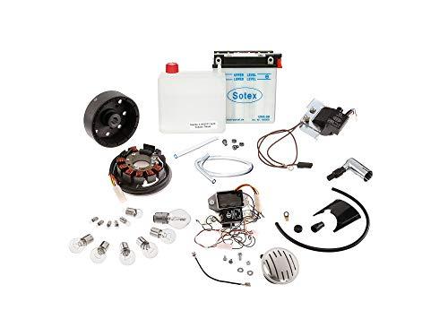 VAPE Set: Umrüstsatz VAPE auf 12V, Magnete vergossen (mit Batterie, Hupe und Kugellampen) - Simson S50, S51, S70