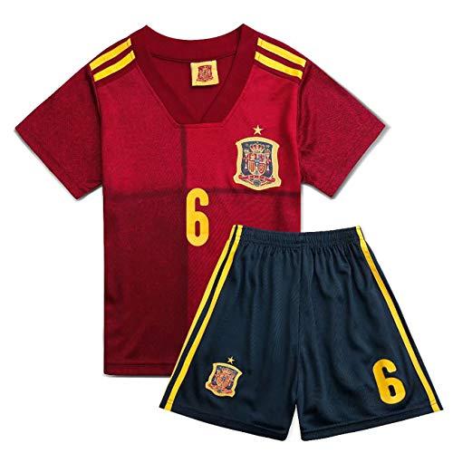 YANDDN UEFA Europa League/Home México/Bélgica/Italia/Alemania / 2018 Home Jersey Camiseta de Entrenamiento de fútbol para niños Camiseta Shorts Tamaño estándar