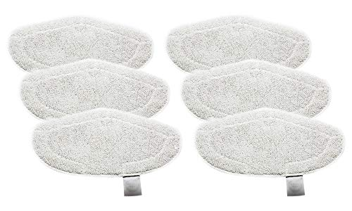 Green Label Empaque de 6 Paños lavables de Microfilamento para Vaporetto Escobón con cepillo Vaporforce (Reemplaza a PAEU0332)