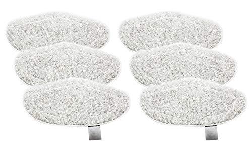 Green Label Empaque de 6 Paños Lavables de Microfilamento para Vaporetto Escobón con Cepillo Vaporforce (Reemplaza a...