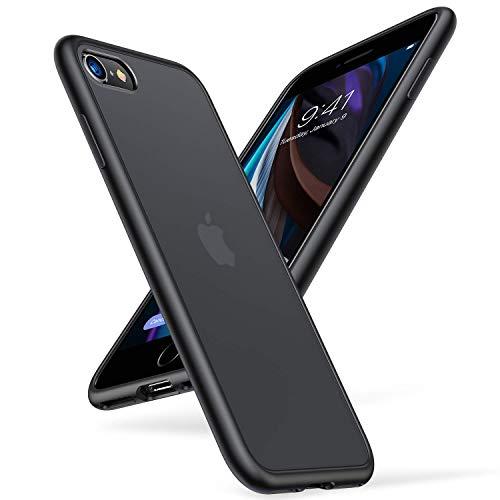 TORRAS iPhone SE ケース 第2世代 iPhone7 ケース iPhone8 ケース【2020年新型】半透明 耐衝撃 米軍MIL規格 マット感 SGS認証 黄ばみなし レンズ保護 ストラップホール付き 高級感4.7インチ アイフォン SE/7/8カバー (ブラック)