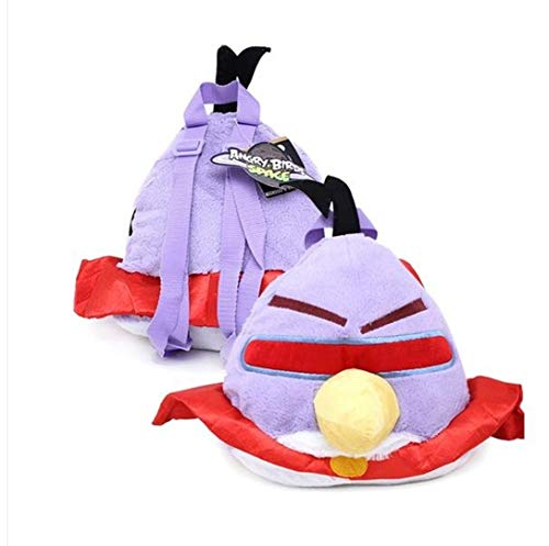 Angry Bird Space Lazer Purple Bird Plush Doll Backpack (kids to adult)