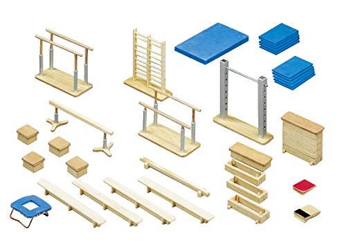 Sport-Thieme Mini-Turnhalle | 30-teilige Miniatur Sport-Halle aus Holz | Mit Aufbewahrungsbox | Für Sportlehrer, Übungsleiter, Vereinstrainer | Markenqualität