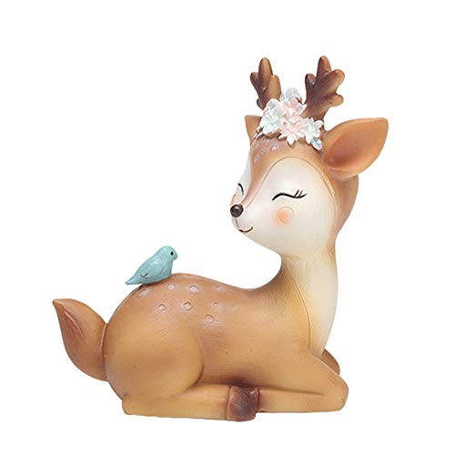 4.3 Inch Woodland Animal Deer Cake Topper Cute Baby Shower Party...