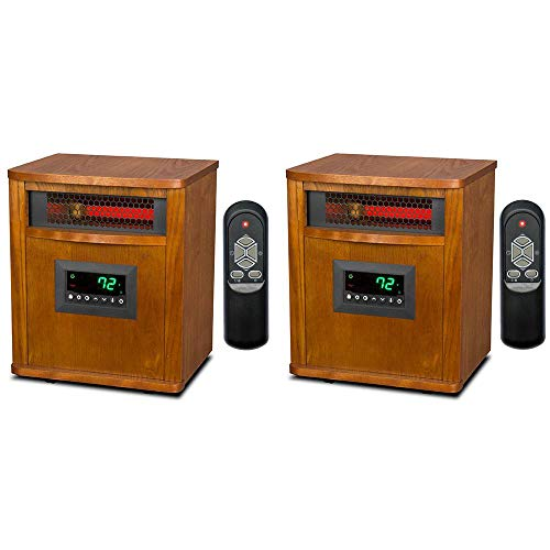 smart for life heaters Lifesmart Smart Boost 6 Element 1500W Portable Infrared Quartz Mica Indoor Room Space Heater (2 Pack)