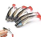 Wymaodan - Set di esche da pesca, 5 pezzi, 8 cm, morbide esche di piombo per pesca con gan...