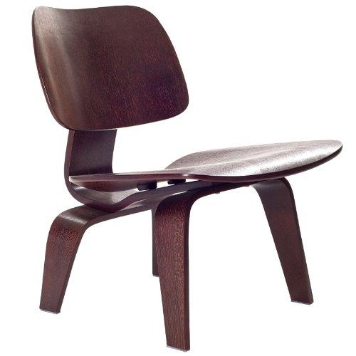 Modway Fathom Wood Lounge Chair in Wenge (Kitchen)