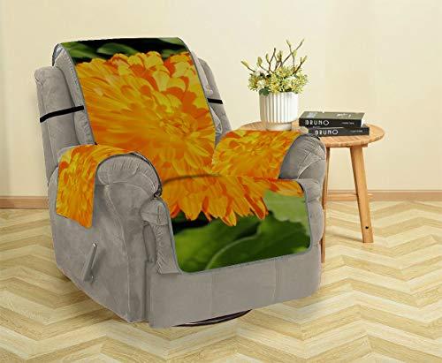 AIKENING Beautifui Bright Marigold Flower Stuhl Schonbezug Lehnsessel Schonbezüge Ohrensessel Lodge Sofabezug Möbelbeschützer Für Haustiere, Kinder, Katzen, Sofa