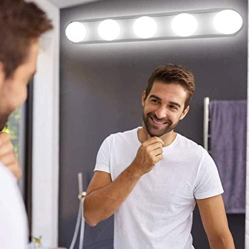 LED Spiegelleuchte, Make-up Licht, Yisun Spiegellampe Schminklicht Schminkleuchte Tageslichtlampe LED-Lichtleiste Schrankleuchte (5V / 1A,5W Weiß) für Badezimmer (Weiß)