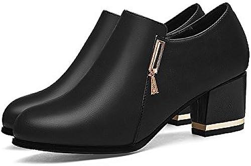 XUERUI Sommer Schuhe Komfort grob mit Mutter Schuhe Wilde Größe Größe Größe Größe Arbeit Schuhe Frauen Schuhe Pumps (Größe   EU36 UK4 CN36)  Alle Produkte erhalten bis zu 34% Rabatt
