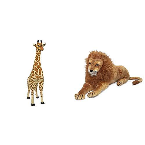 Melissa & Doug Large Giraffe & Large Stuffed Lion