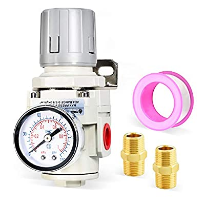 Tailonz Pneumatic 3/8 Inch NPT Mini Pressure Regulator for Compressed Air Systems AR3000?Adjust 0 to 145 Psi from TAILONZ PNEUMATIC