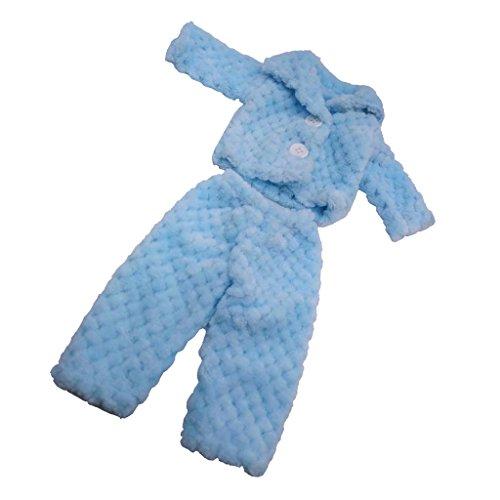 D DOLITY Zweiteilige Puppenkleidung Pyjamas Nachtwäsche Nachthemd Für 18'' Puppe - Blau