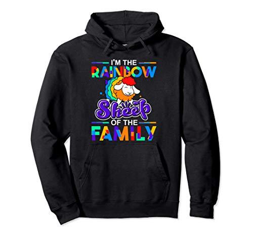 Soy la oveja arcoíris del orgullo gay de la familia Sudadera con Capucha