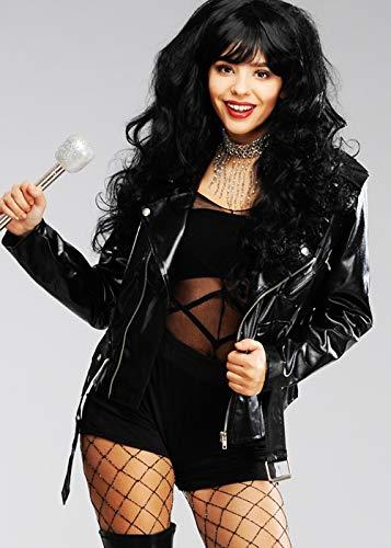 Magic Box Int. Damen 80er Jahre Cher Style Schwarze Lederjacke