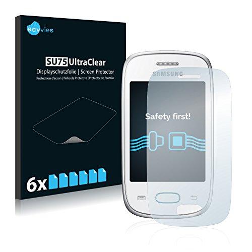 savvies 6-Pezzi Pellicola Protettiva Compatibile con Samsung Galaxy Pocket Neo S5310 Protezione Schermo Trasparente