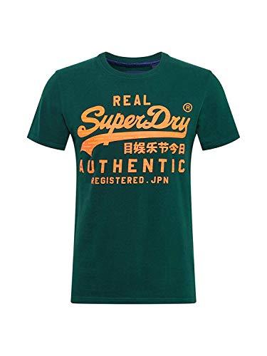 Camiseta Hombre Superdry Vintage Authentic Fluro tee Verde