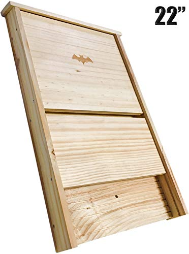 """XXL Bat House, Real Bat Box ; (22"""") LONG , Bat houses for outside, MADE TO BATCON SPECS SEE INFO ON LISTING, Large bat boxes for outdoors,Attract Bats and eliminate mosquitoes,natural mosquito control"""