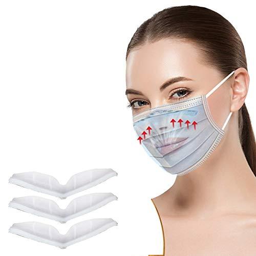 Amphia 10 Stück Nasenbügel für Mundschutz - Neues Konzept 2020,Kieselgel,Wiederverwendung,Beschlagen Verhindern | Für Brillenträger geeignet (Weiß)