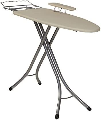 """Household Essentials Pressing Station Steel Top Wide Rest and Sleeve Board 