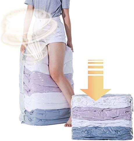 CLEVHOM Vacuum Storage Bags No Pumps Need 80 More Storage Space Saver Bags for Bedding Pillows product image