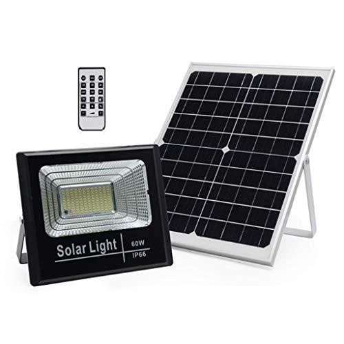 WFTD Solar-Sicherheitsflutlicht, LED-Fernbedienung und Lichtsteuerung im Freien wasserdichte IP66-Gartenbeleuchtung mit hoher Helligkeit, geeignet für Gartengaragen Porches etc,60w