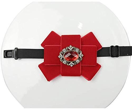 Hat Lazo de la Manera Lazo de la Boda de la Boda del Lazo Cuello de Terciopelo Diamante Cuadrado Grande Flor roja Comfortable j0502