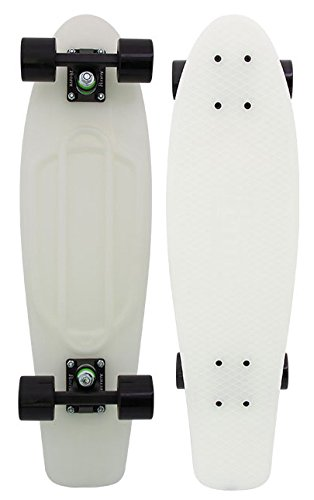 Penny Skateboard - Casper 27' - Glows in The Dark - Nickel Style Larger Deck for Stability Great for Skaters of All Levels