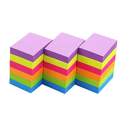 Sticky Notes 1.5x2 Self-Stick Notes 6 Bright Multi Colors Sticky Notes 18 Pads 100 Sheet/Pad