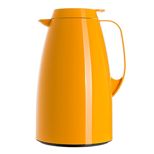 Emsa 508363 Isolierkanne, Thermoskanne, 1,5l Füllvolumen, Kaffeekanne, Quick Tip Verschluss, Basic in orange