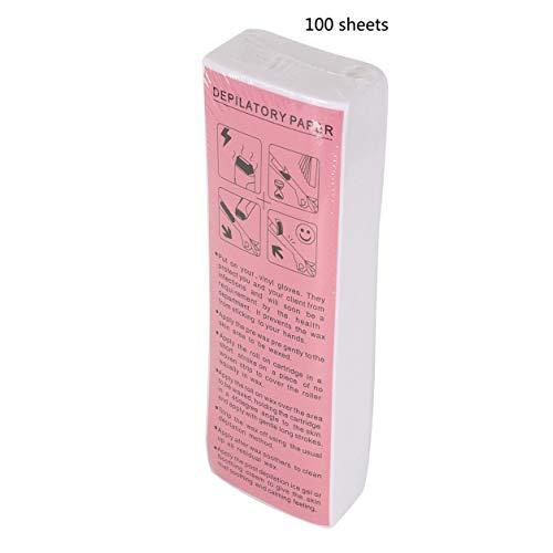 Kongqiabona-UK 100 Pcs Professionnel épilation Bande de fartage Non-tissé épilation Papier épilation Jambes Outil