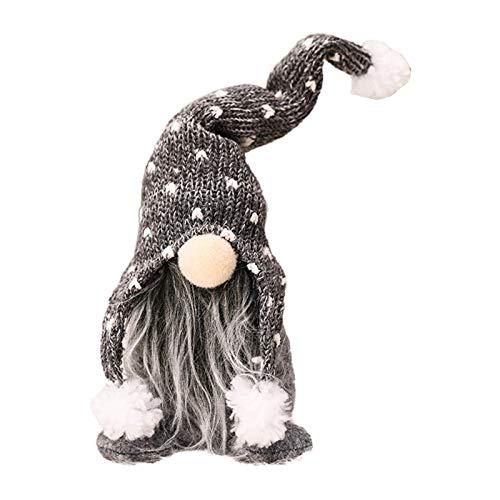 Handmade Christmas Gnome Decoration Swedish Figurines Sitting Long Hat Elf Doll