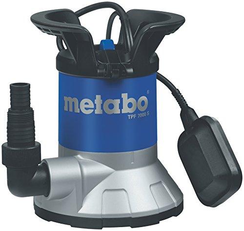 Metabo Flachsaug-Tauchpumpe TPF7000 S | inkl. Winkelanschlussstück mit Multiadapter, Schwimmschhalter | 250800002