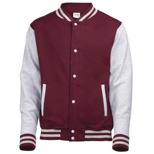 AWDis Awdis del equipo universitario de la chaqueta / schoolwear 12-13 Borgoña / Heather para Niños 44178 Gris