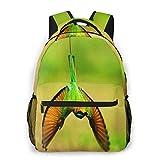 Laptop Rucksack Schulrucksack Vogel Essen Biene, 14 Zoll Reise Daypack Wasserdicht für Arbeit Business Schule Männer Frauen