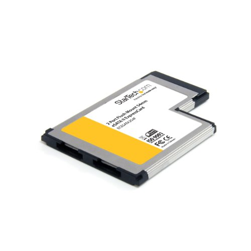 StarTech.com 2 Port Flush Mount ExpressCard 54mm eSATA II Controller Adapter Card (ECESATA254F)