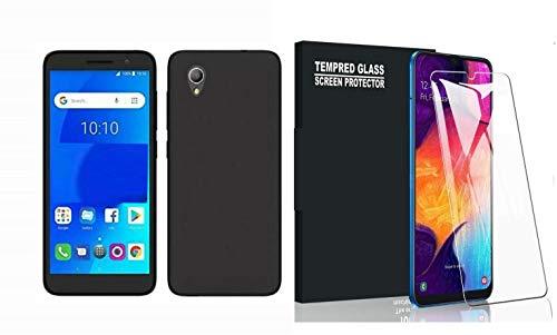 Compatible Para Huawei Y62 y6ii Y6 2 II/Honor 5 A/cam-l03 cam-l21 cam-l23 cam-l32 Cubierta Retro Funda Carcasa Case Gel Silicona negro Mate Slim TPU + Protector Cristal Templado