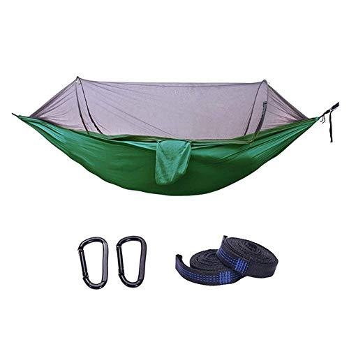 Camping hangmat Hangmat met Klamboe Lichtgewicht Parachute camping hangmat for Outdoor Hiking Tuin Reizen Mesh Tent Travel camping hangmat (Kleur: Camouflage, Maat: 260x140cm)