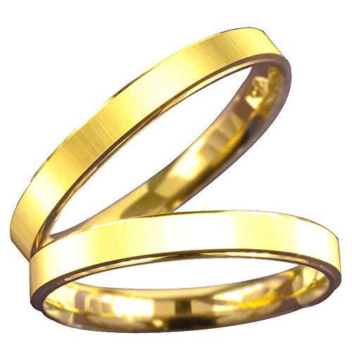 [アトラス]Atrus リング メンズ ペアリング 24金 純金 2本セット 鍛造 結婚指輪 ゴールド カップル 地金