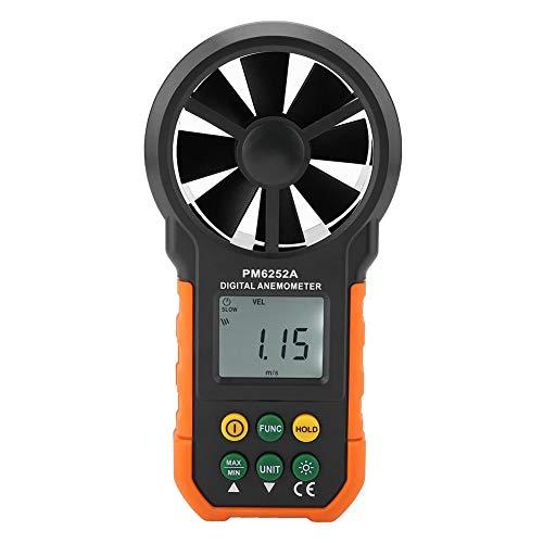 Anemometro Digitale Palmare PM6252A, Misuratore di Velocità del Vento, Misuratore del Volume Dell'aria,...