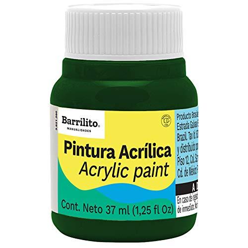 acrilico verde marca BARRILITO