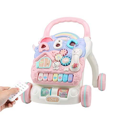 Chariot Walker Multi-Fonction Walker Anti-Renversement pour bébé Apprendre à Marcher 6-18 Mois pour bébé FANJIANI (Couleur : Rose)