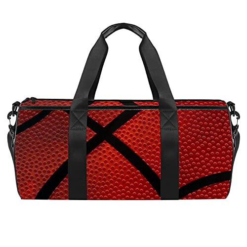 Bolsa de baloncesto de textura oscura Vector Gym para hombres y mujeres Bolsas de fin de semana Deportes Viaje Duffel Bolsa con bolsillo impermeable