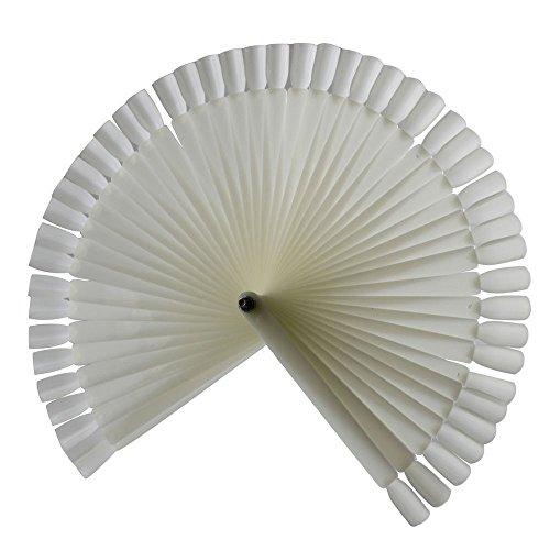 Momola 50pcs Ongles Art astuces de démonstration de Couleur de Vernis à Ongles échantillon de Nuancier,Choix parfait pour votre mode ongles (Blanc)