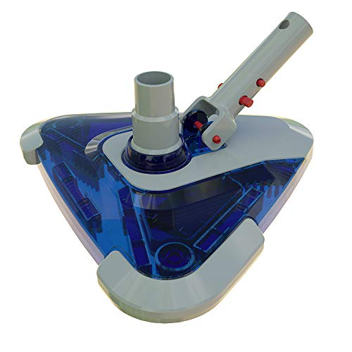 POOLWHALE See-Thru Weighted Transparent Triangular Pool Rotative Vacuum...