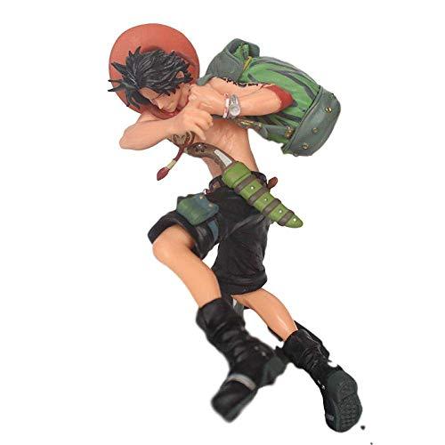 High 15cm One Piece Battle Overhead 4 ACE Mochila Boxed Sculpture Regalo Modelo Ilustraciones Anime