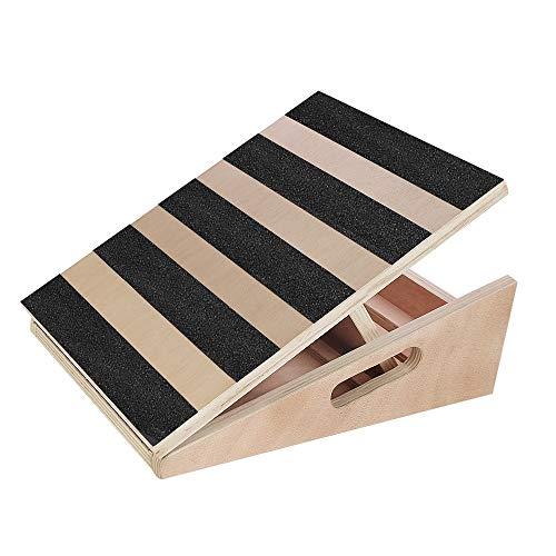 Scriptract - Tavola inclinata regolabile in legno per polpaccio, inclinata (copertura parziale nera)