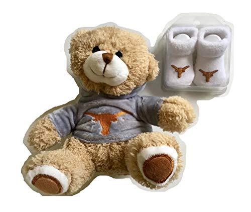LSU Tigers Baby Booties BPA-Free Baby Bottle 2 Pacifiers Plush Hoodie Bear Purple Infant Socks